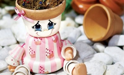 DIY-garden-decoration-clay-flowerpots-dolls-eyes
