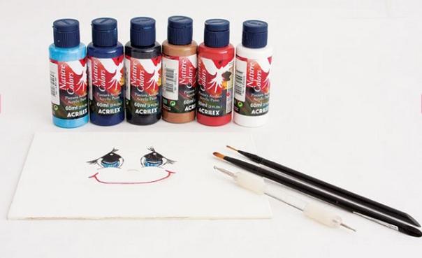 DIY garden decoration ideas how to paint doll eyes