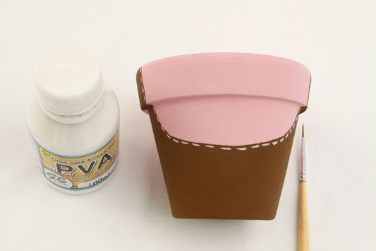 DIY garden decorations idea piggy clay pot painting