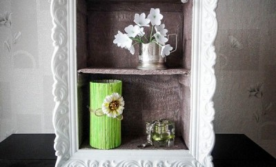 DIY-shelf-home-decor-cardboard-styropor-molding
