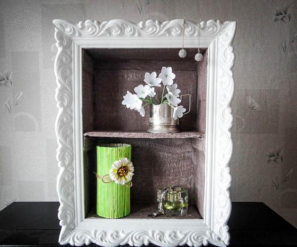 Cheap diy home decor idea decorative cardboard wall shelf for Cheap wall art ideas