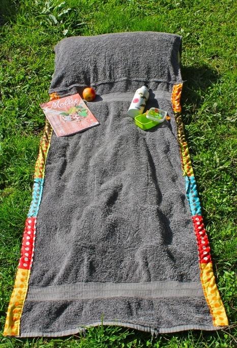 bag unwraps into beach blanket reuse old towel