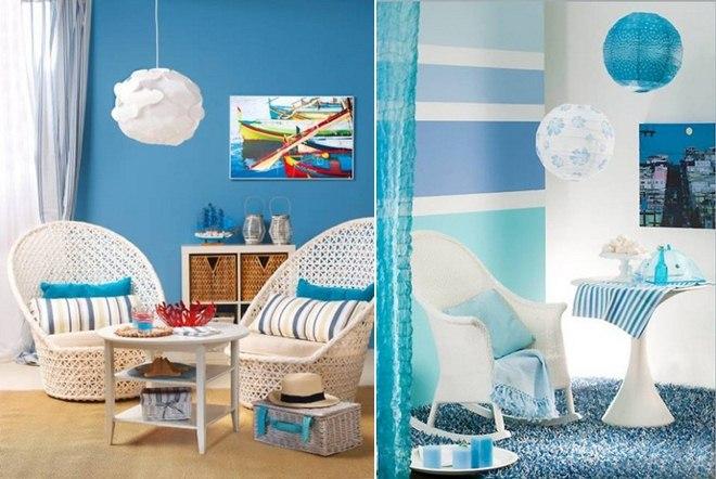 beach-home-decorating-ideas-blue-walls-white-furniture