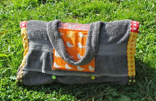 beach towel blanket wrap bag pockets