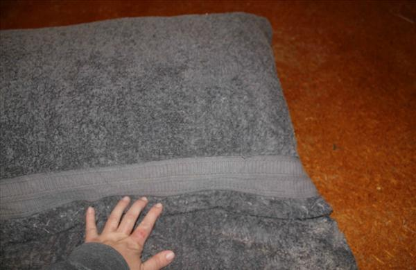 beach towel wrap around pillow project