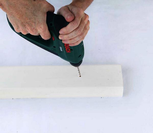 building vertical garden plastic troughs holes drainage