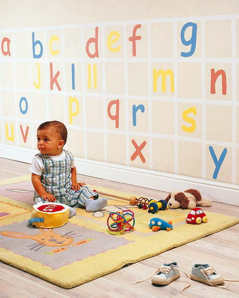 creative diy nursery project letters wall decoration