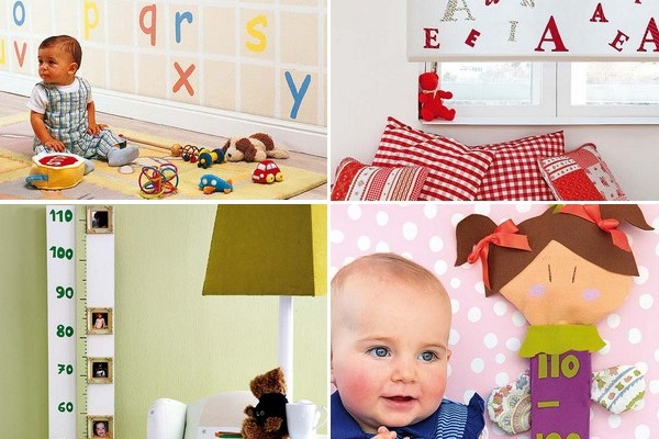 Creative Diy Nursery Projects Wall Decoration And Growth Chart Ideas