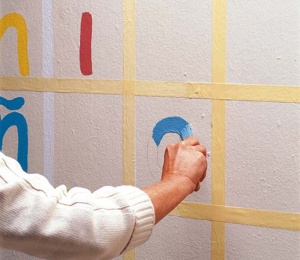 Diy Creative Wall Painting Ideas : Creative diy nursery projects wall decoration and growth