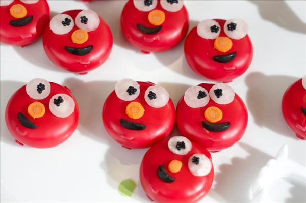 cute party appetizers babybel elmo decoration idea
