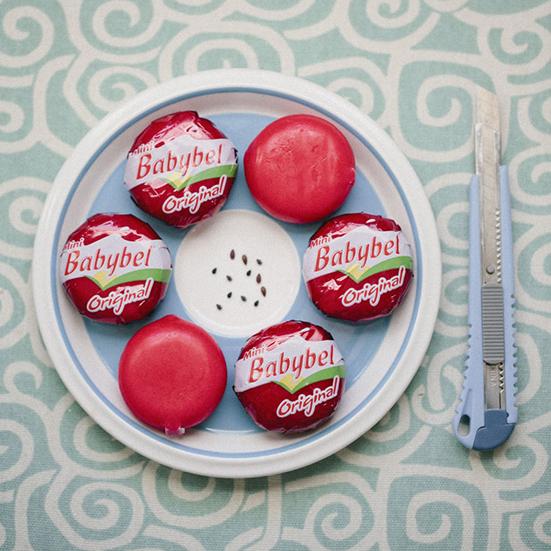 cute party food babybel ideas diy sesame seeds