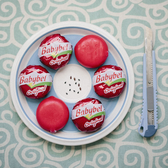 cute party food babybel ideas diy sesame seeds