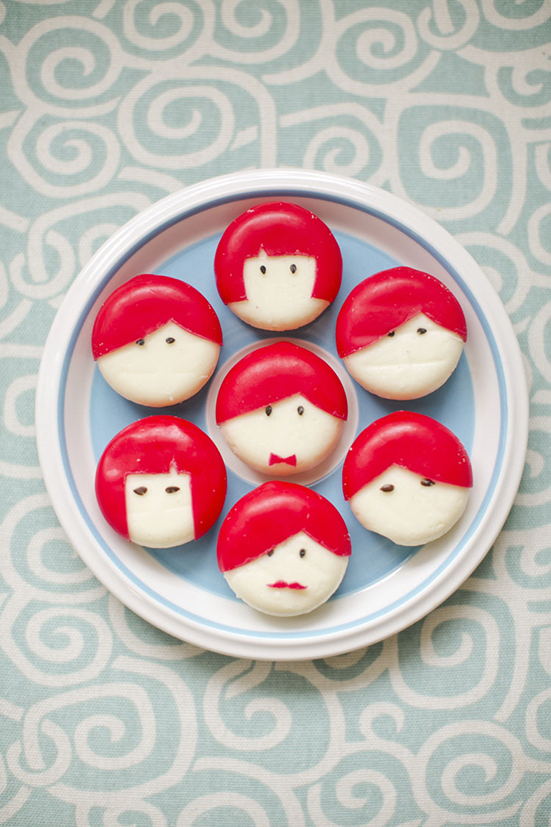cute party food diy babybel people red hair