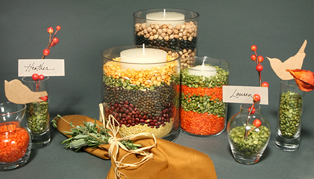 decorating-glass-candle-holders-autumn-legumes