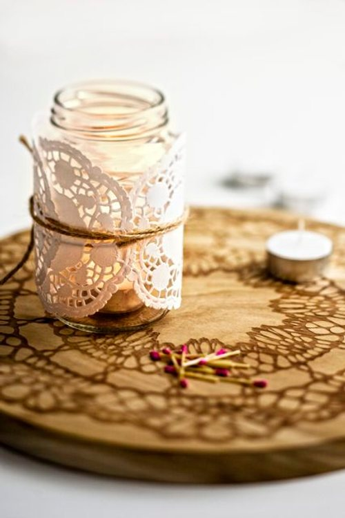 decorating-glass-candle-holders-doilies-yarn
