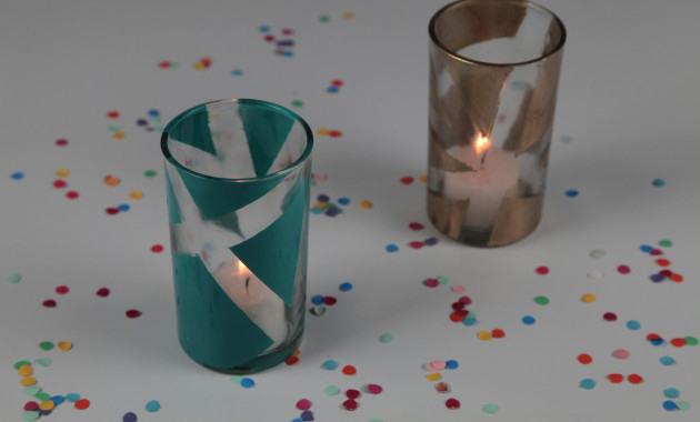 decorating-ideas-glass-candle-holders-diy-votives-tape-paint