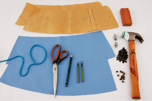 diy corset belt turquoise summer project materials