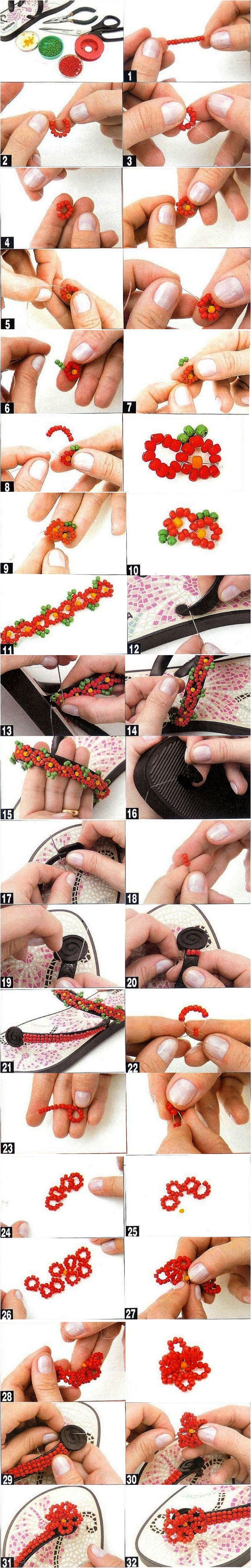 diy beaded flip flops projects old ipanema sandals