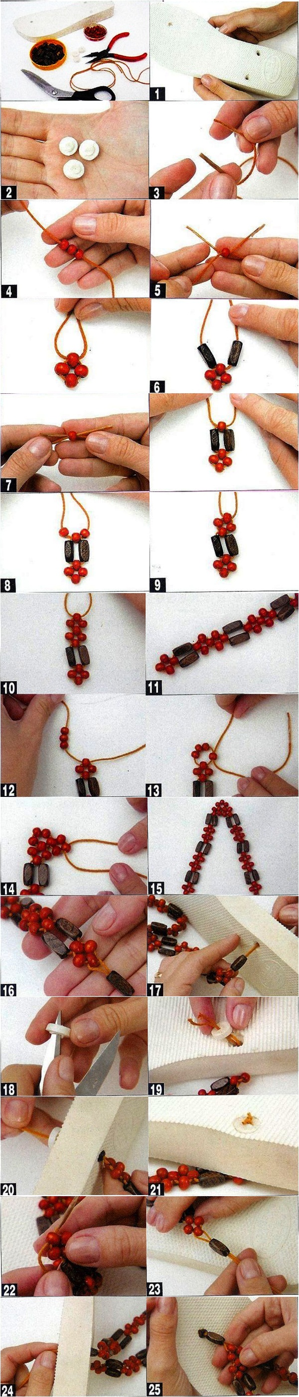 diy summer fashion projects wood beads embellish