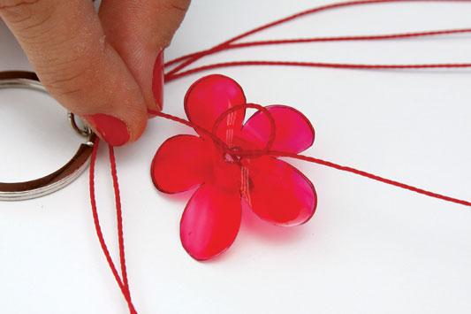 diy gift idea keychain plastic paint