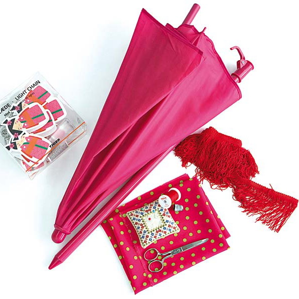 diy girls room decoration pink beach umbrella materials