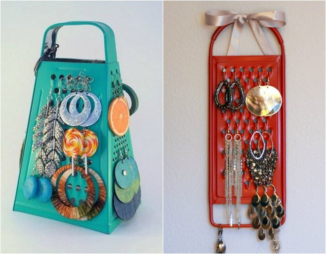 diy-jewelry-storage-ideas-cheese-grater-earring-holder