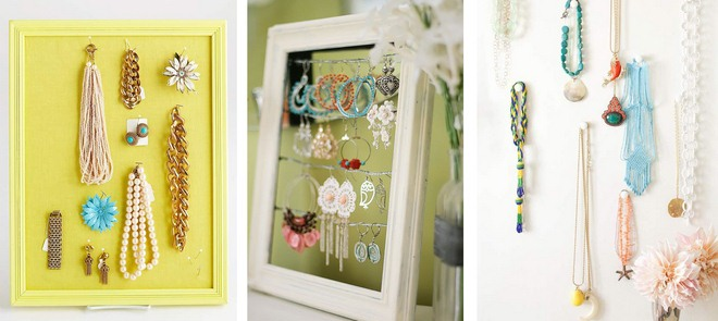 diy-jewelry-storage-ideas-picture-frames-necklaces-earrings