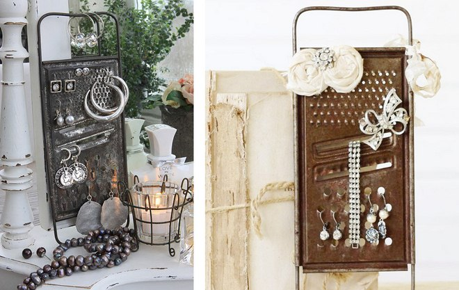 diy-jewelry-storage-ideas-vintage-cheese-grater-earring-holder