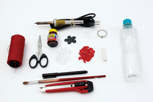 diy keychain plastic bottle creative reuse materials