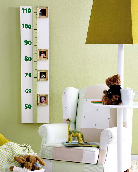 diy project baby room growth chart photo frames