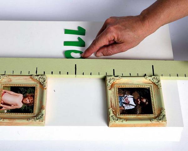 diy nursery project growth chart ruler