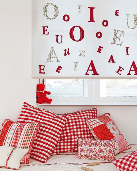 diy nursery project roller shades letters