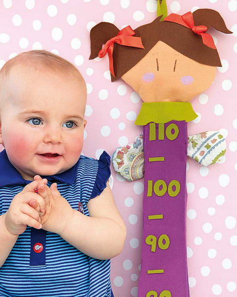 diy nursery sewing project growth chart doll