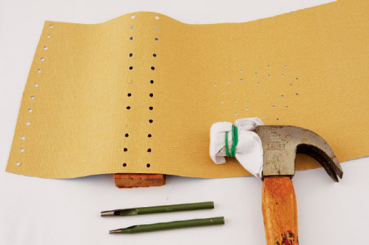 diy summer fashion accessoires hammer holes leather punches