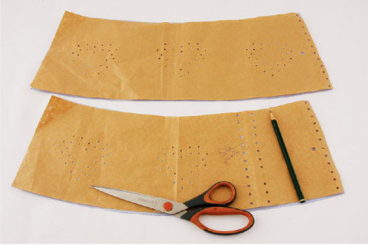 diy wide corset belt template pencil scissors hearts