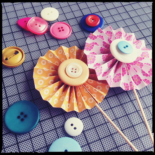 easy cupcake idea buttons decorating diy colourful