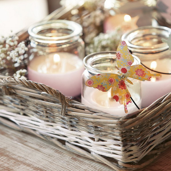 fun-picnic-ideas-glass-jars-pillar-candles