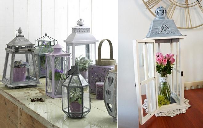 Garden Decorating Ideas Diy Candle Lanterns Plants Roses