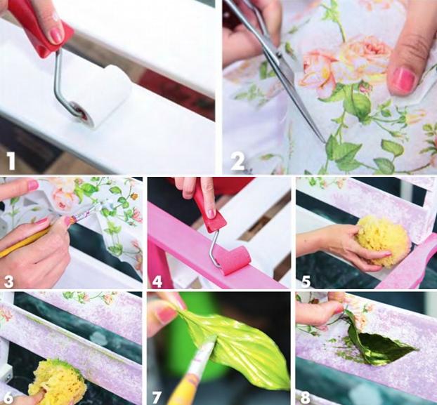 Garden decorating ideas  diy-decoupage-garden-bench-tutorial