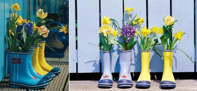 garden-decorating-ideas-diy-old-rubber-boots-flower-pots