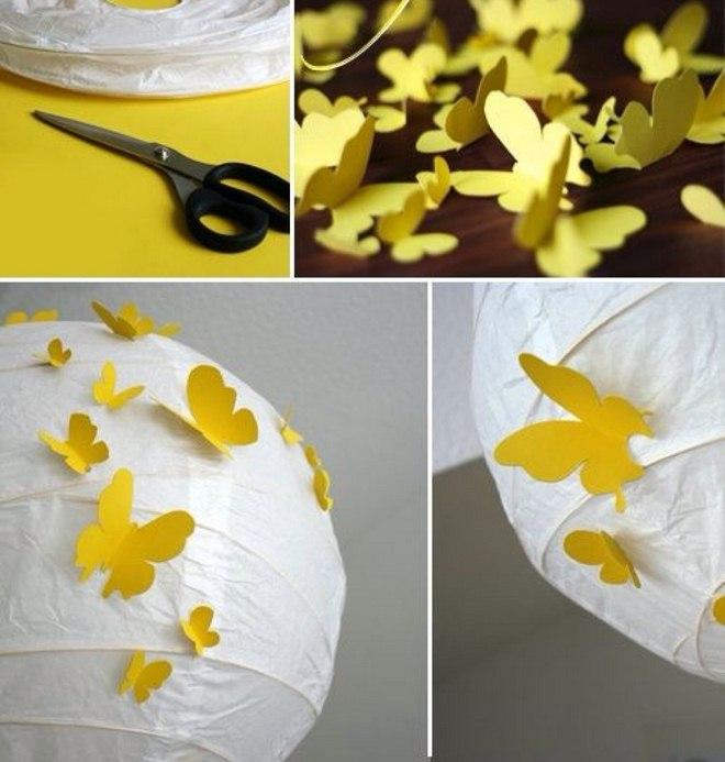 Garden decorating ideas diy-paper-lanterns-butetrflies