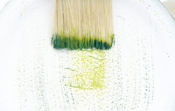 how decoupage patina effect green dry brush