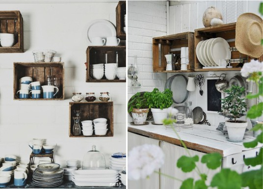 shelves-old-wooden-crates-garden-kitchen