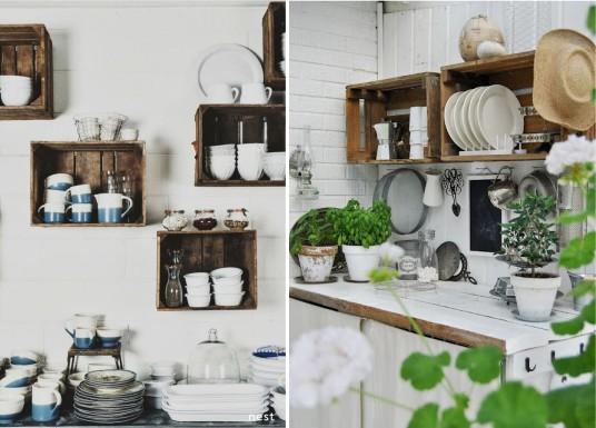 shelves-old-wooden-crates-garden-kitchen