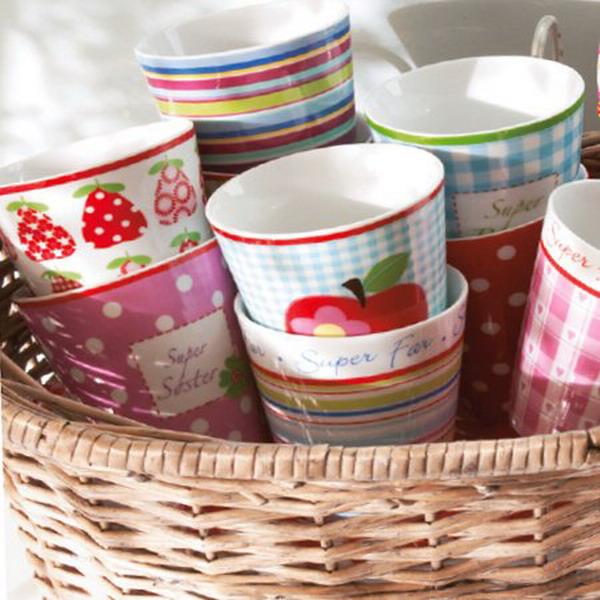 summer garden party strawberries cups prints