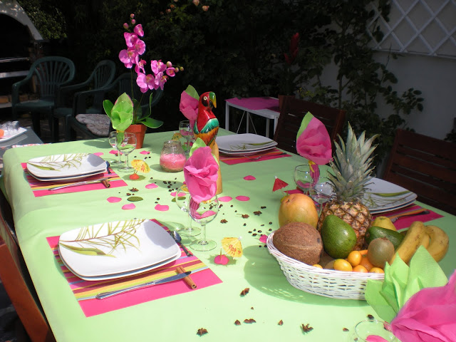 Summer Garden Party Table Decorating Ideas In Exotic Colors