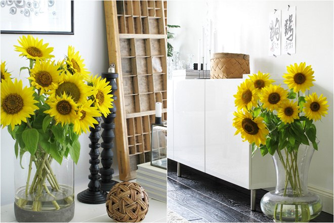 summer-home-decoration-ideas-sunflowers-bouquets