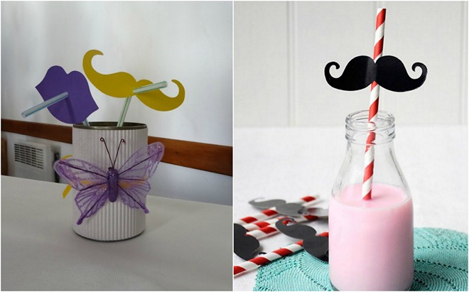 table-decoration-ideas-summer-drinking-straws-paper-ornaments