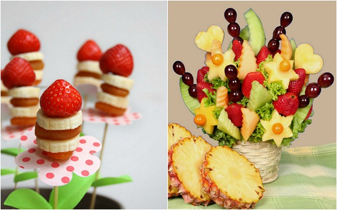 Table Decoration Ideas Summer Fruit Bouquets Skewers