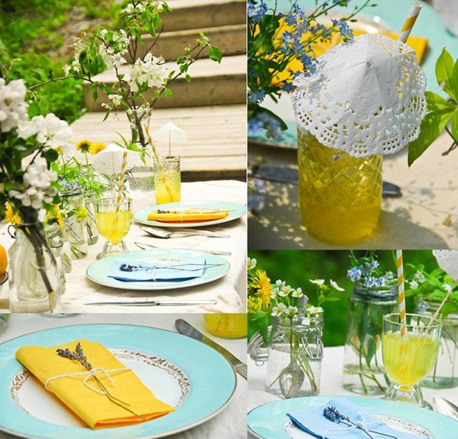 Table decoration ideas for a summer garden party